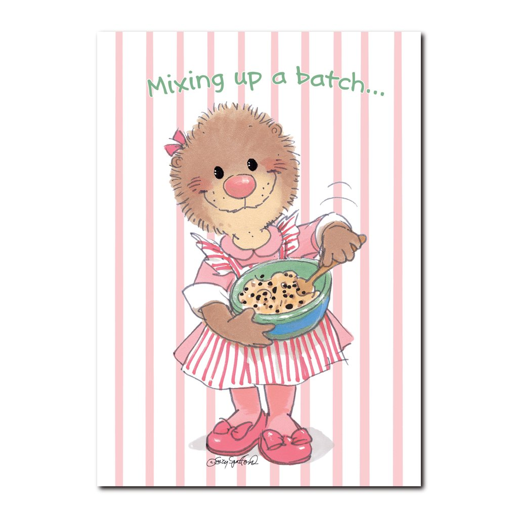 Emily Marmot knows that a good batch of love works every time! Making cookies on this get well card from Suzy's Zoo.