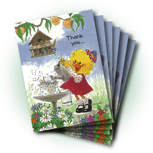 Suzy Birdhouse Thank You Greeting Card