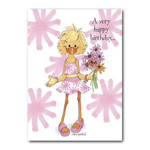 Sally Ducken always enjoys remembering her friends on their birthdays, in this Suzy's Zoo birthday greeting card.