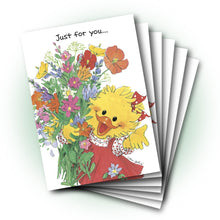 Suzy Bouquet Get Well Greeting Card