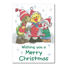 Merry Christmas Carolers Holiday Greeting Card