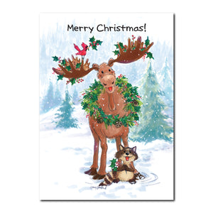 Bruce the Moose Holiday Greeting Card