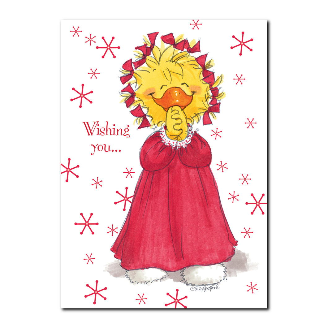 Christmas Flannel Holiday Greeting Card