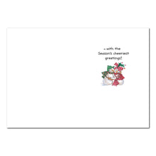 Festive Snowman Couple Holiday Greeting Card