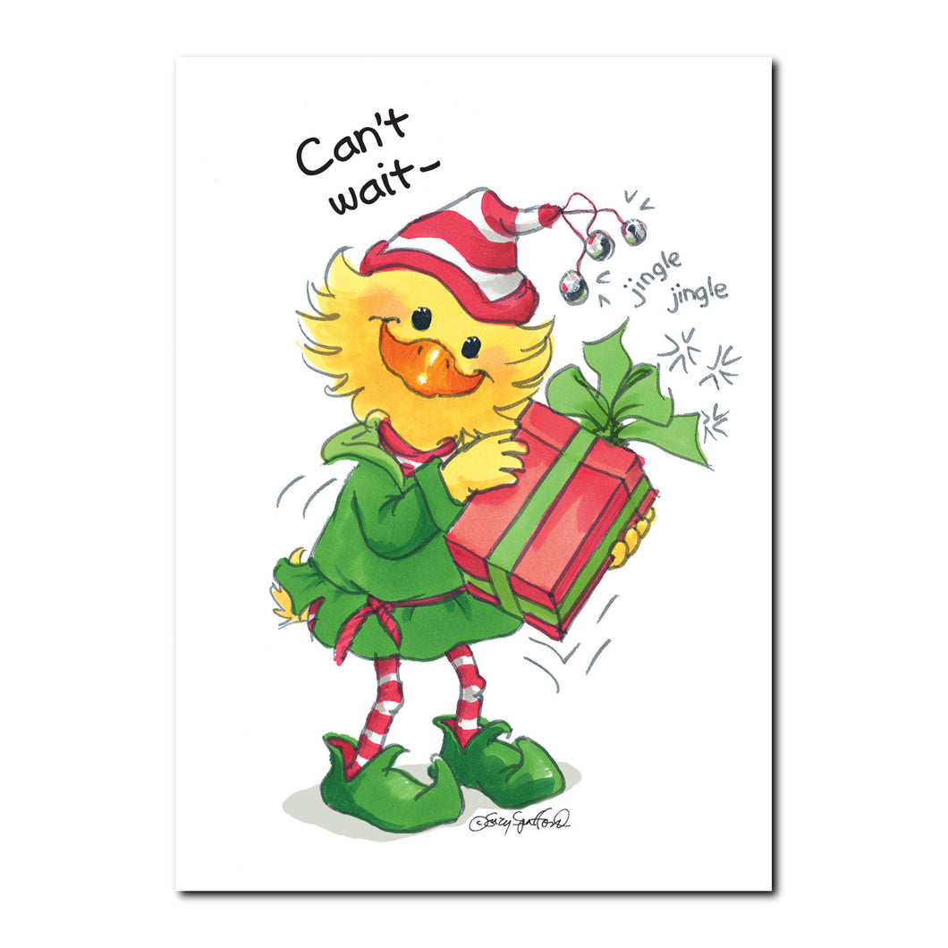 Christmas Elf Holiday Greeting Card