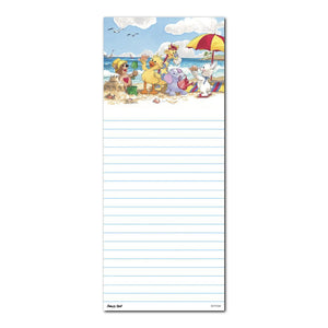 "Suzy's Zoo Memo Note Pad, ""Witzy's Beach Day Fun"" 11104"
