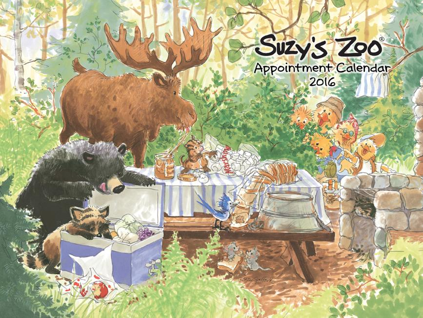 2016 Wall Calendar by Suzy's Zoo