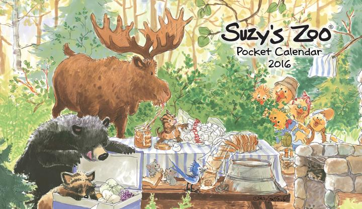 2016 Pocket Calendar by Suzy's Zoo