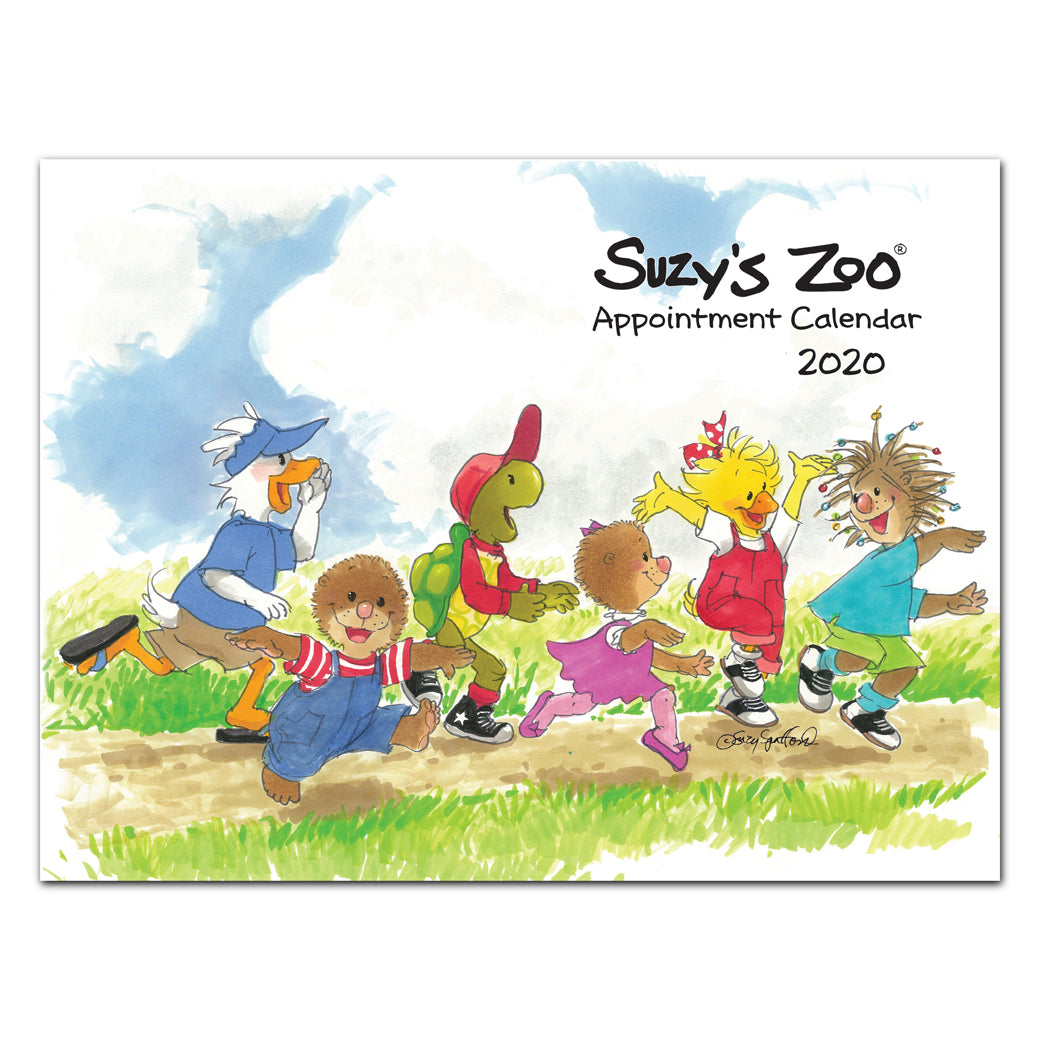 Suzy's zoo 2020 wall calendar is an illustrated appointment calendar from suzys zoo.