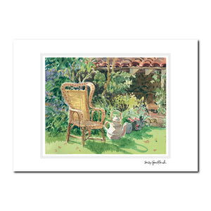 Garden Plein Air Watercolor Note Cards