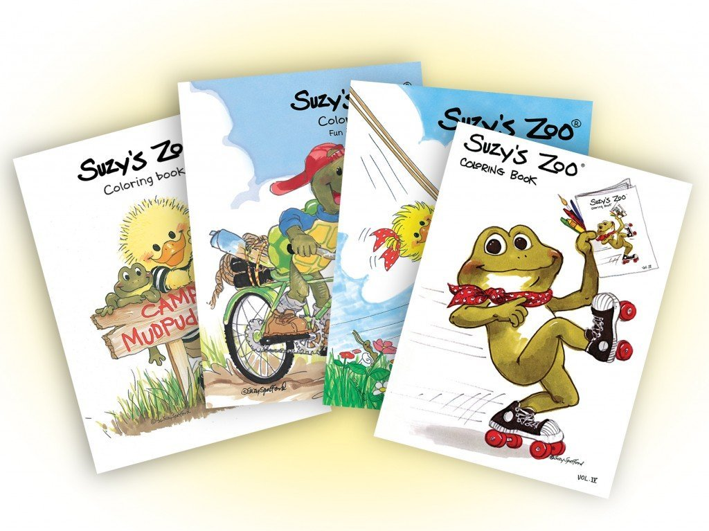 Suzy's Zoo Coloring Book Collection 4-Pack