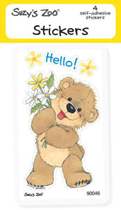 Hello Bear Stickers (4-pack)