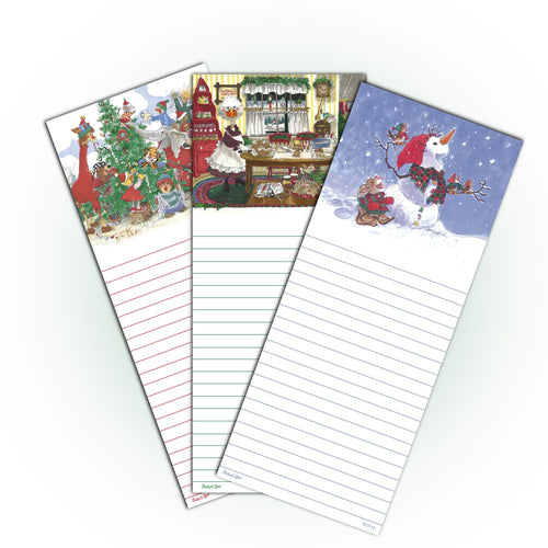 Suzy's Zoo Memo Note Pad, 3-pack Christmas variety 11112