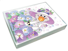 Gussie's Pansies Note Cards Set - 10873