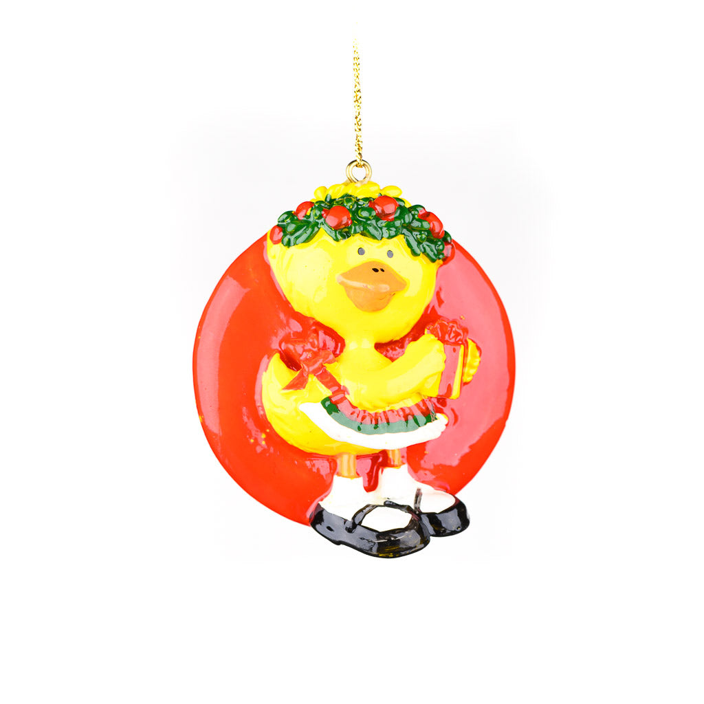 Vintage Suzy Ducken Flat Ornament