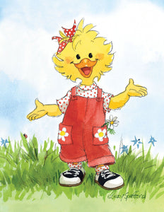Suzy Ducken Overalls Note Cards Set - 10867