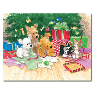 """Christmas Puppies & Kitties"" Christmas Note Cards Set - 10890"