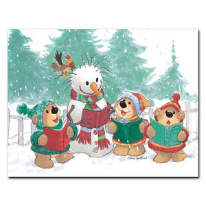 """Caroling Bears"" Christmas Note Cards Set - 10892"