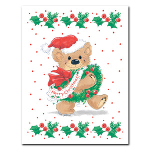 """Christmas Wreath"" Christmas Note Cards Set - 10896"