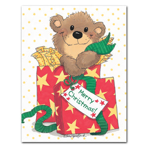 """Christmas Wrapping"" Christmas Note Cards Set - 10897"
