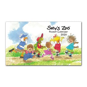 The 2020 Suzy's Zoo pocket calendar is a mini calendar for work or travel to keep important dates on hand.