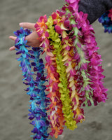 dyed orchid single lei