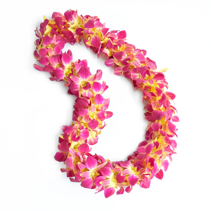 Double Dyed Gold Lei