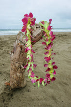 Purple and Green Dyed Orchid Lei