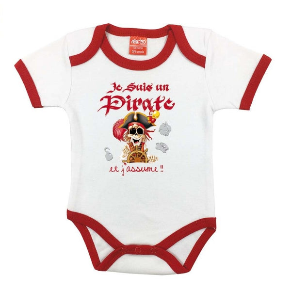 "Body bébé ""Je suis un pirate et j'assume"""