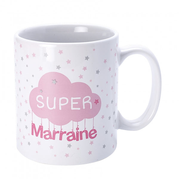 Mug super marraine collection nuages