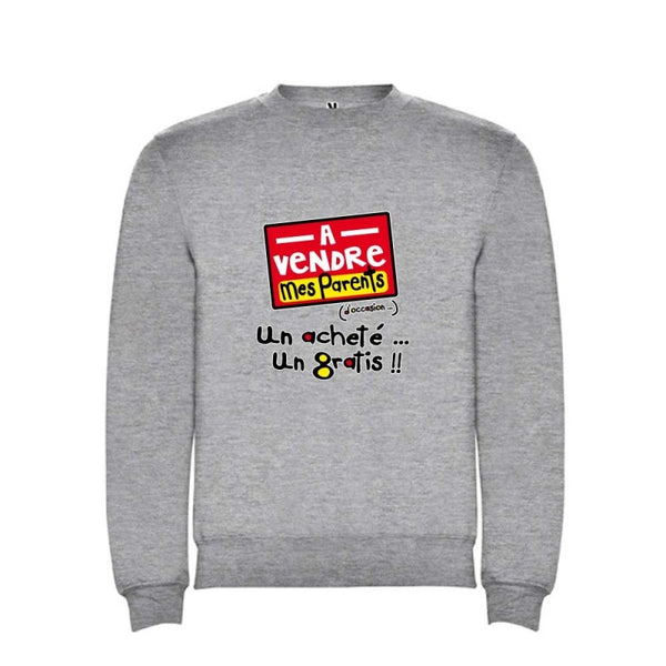 sweat enfant humoristique a vendre parents