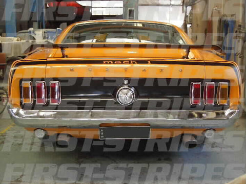 "FORD 1969 MUSTANG MACH 1 "" REFLECTIVE STRIPE  KIT """