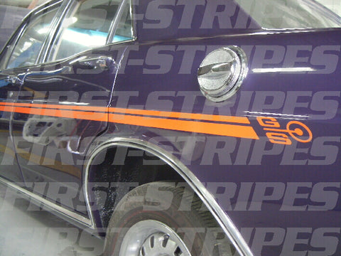 FORD XW / XY GS FALCON ' REFLECTIVE ' SIDE STRIPES