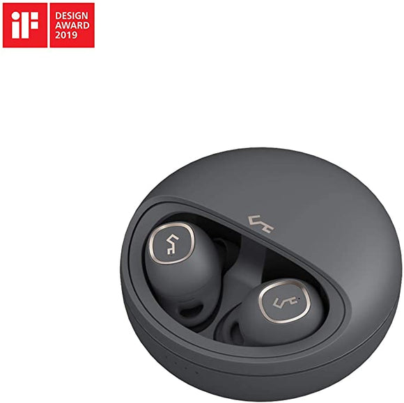 AUKEY True Wireless Earbuds, Bluetooth 5 with Charging Case, 24h Playtime, Deep Bass, USB-C & Qi Wireless Charging, Secure Fit, Touch Control, One-step Pairing, Key Series T10