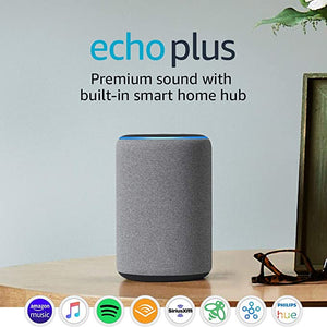 Echo Plus (2nd Gen) - Premium sound with built-in smart home hub - Heather Gray