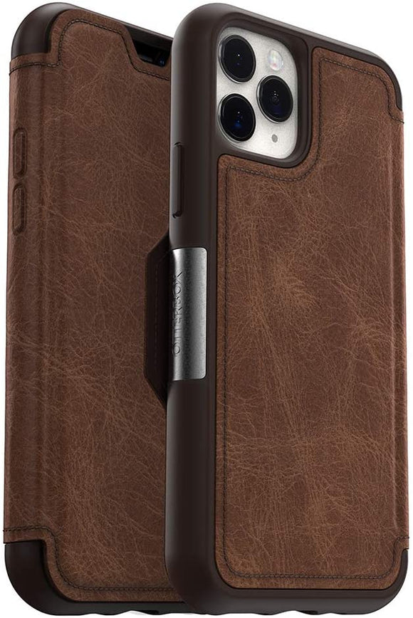 OtterBox STRADA SERIES Case for iPhone 11 Pro - ESPRESSO (DARK BROWN/WORN BROWN LEATHER)