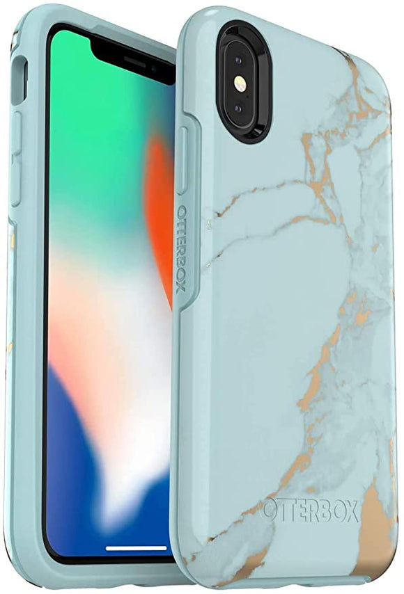 OtterBox Symmetry Series Case for iPhone Xs & iPhone X - Teal Marble