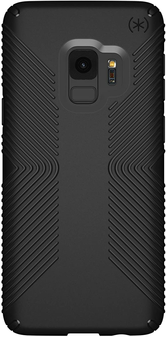 Speck Presidio Grip Samsung Galaxy S9 Case, Black/Black - 109509-1050