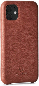 Woolnut Leather Case Cover for iPhone 11 - Cognac Brown