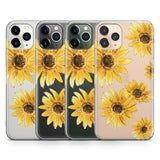 Bright Yellow Sunflowers Clear Case | Casely Phone Case