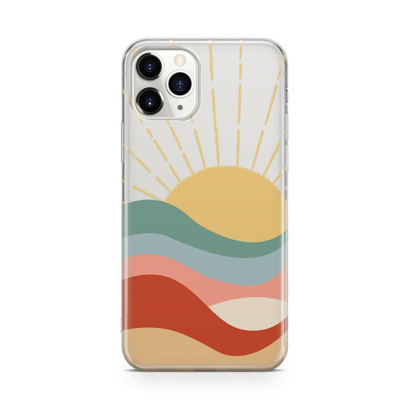 Here Comes the Sun | Colorblock Sunset Clear Case | Casely Phone case