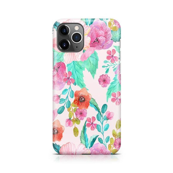 Out And About | Light Pink Floral Case | Casely Phone Case