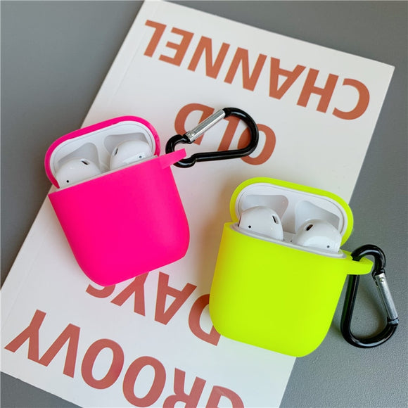 Fluorescent Colour Protective Cover For Apple Airpods
