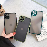Phone Cases For iPhone - Matte Translucent Shockproof Back Cover