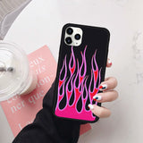 Funny Flame Phone Case For iPhone