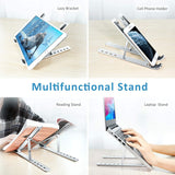 Adjustable Aluminium Ergonomic Foldable Laptop Stand