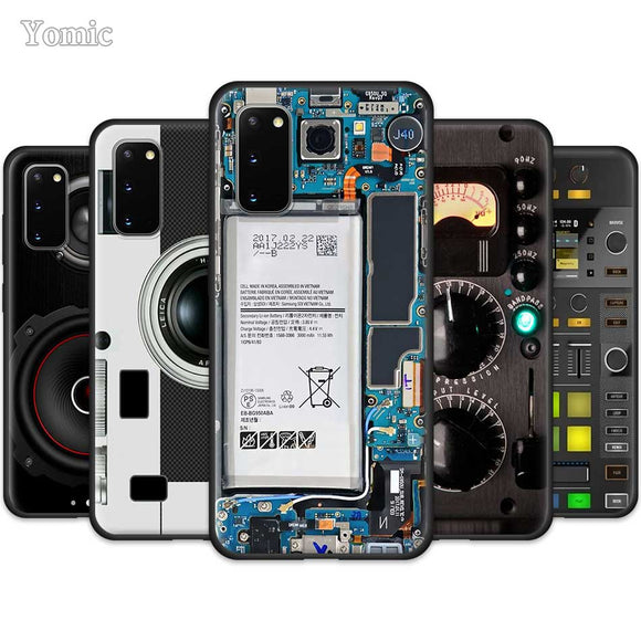 Camera, Battery, Calculator, Electronic, Speaker design cases for Samsung.