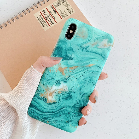 Marble Design Phone Case For iPhone