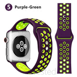 Silicone Strap For Apple Watch-Breathable Sport bracelet
