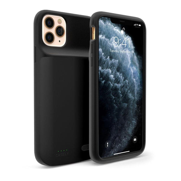 Solid Black Battery-Powered Charging Case | Casely Phone Case